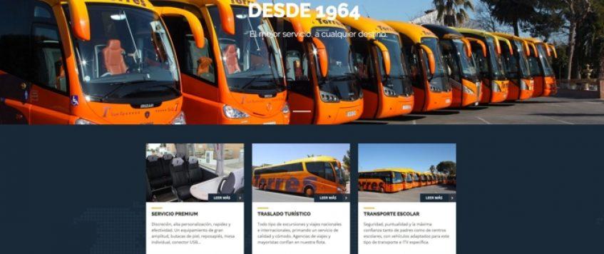 Autocares Torres estrena su nueva páginaweb